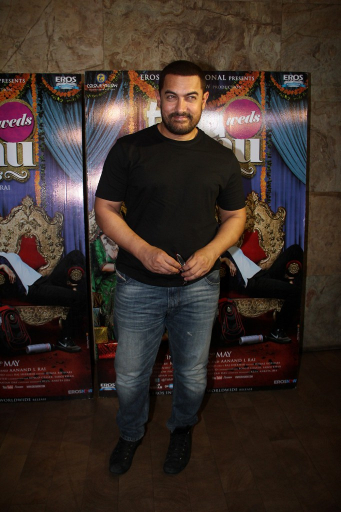 Aamir Khan Special Screening Of Film Tanu Weds Manu Returns