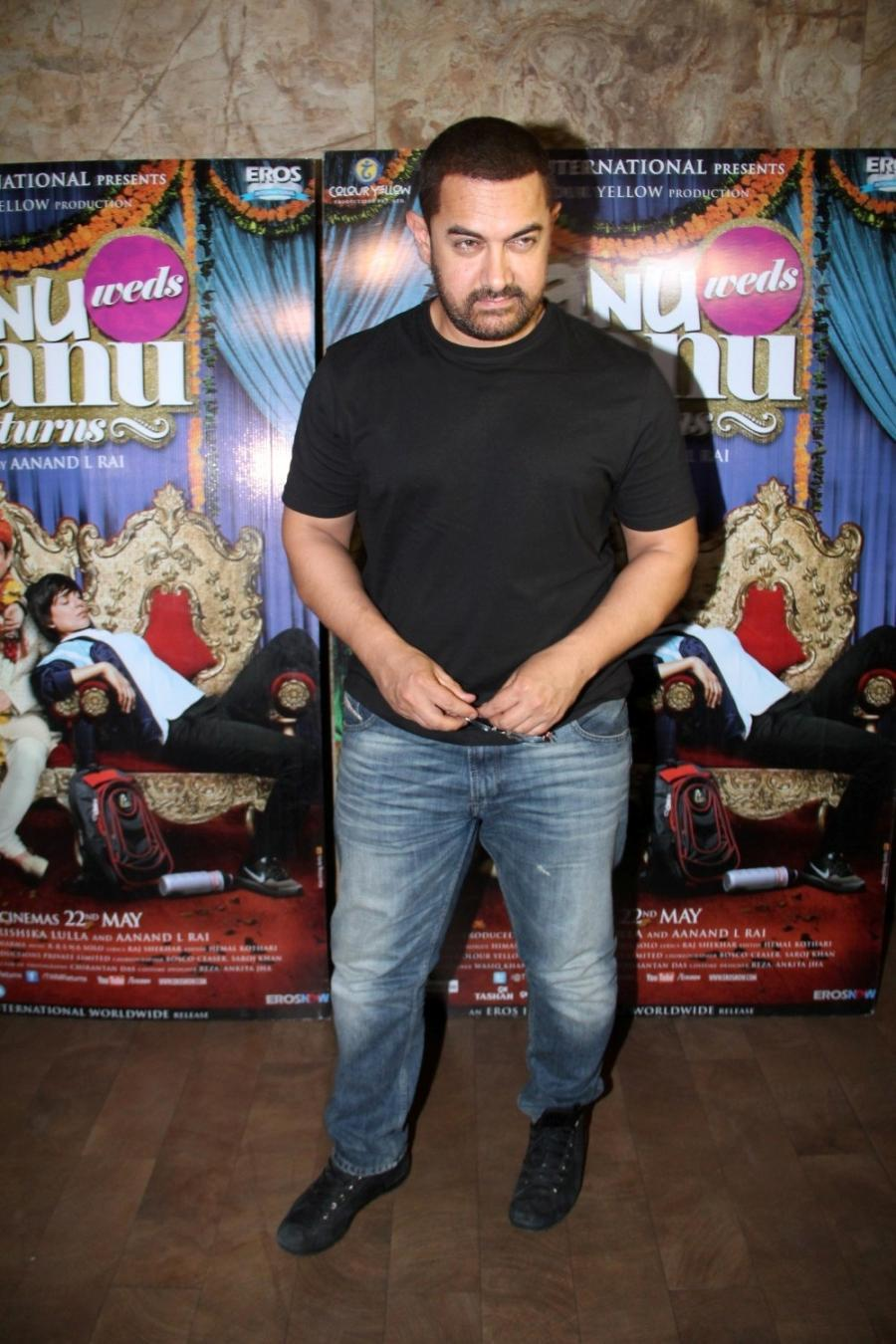 Aamir Khan Special Screening Of Film Tanu Weds Manu Returns-02