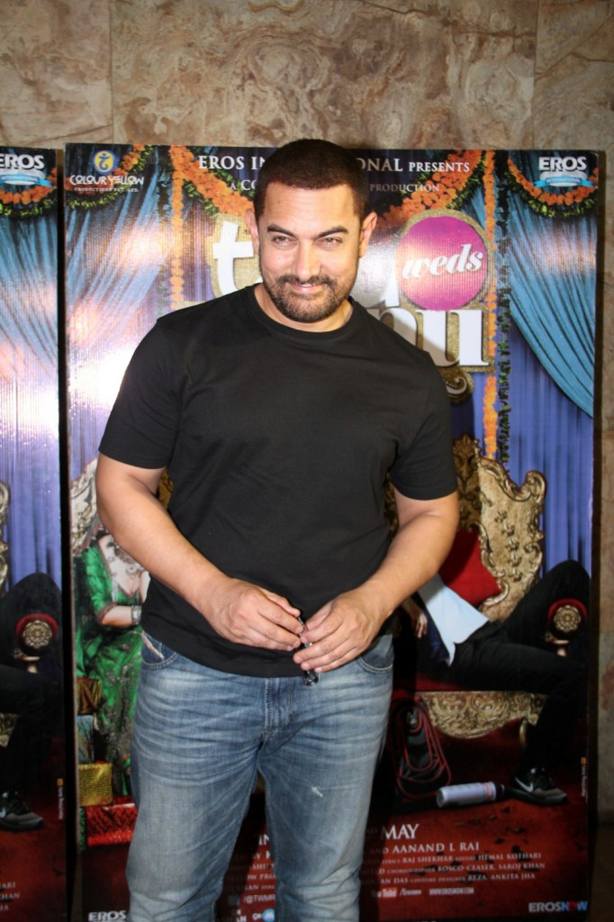 Aamir Khan Special Screening Of Film Tanu Weds Manu Returns-03