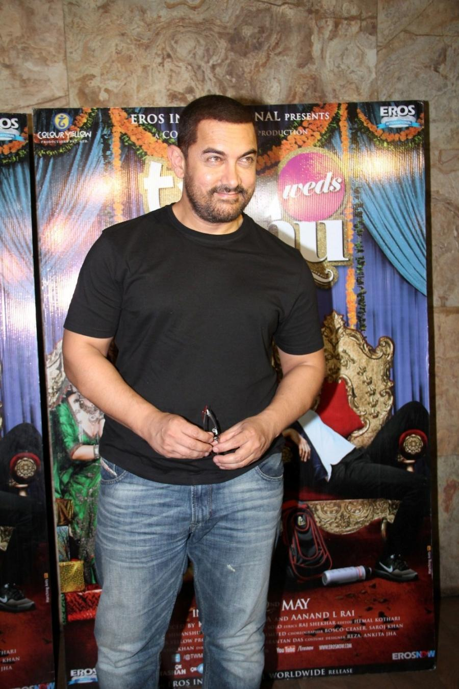 Aamir Khan Special Screening Of Film Tanu Weds Manu Returns-05