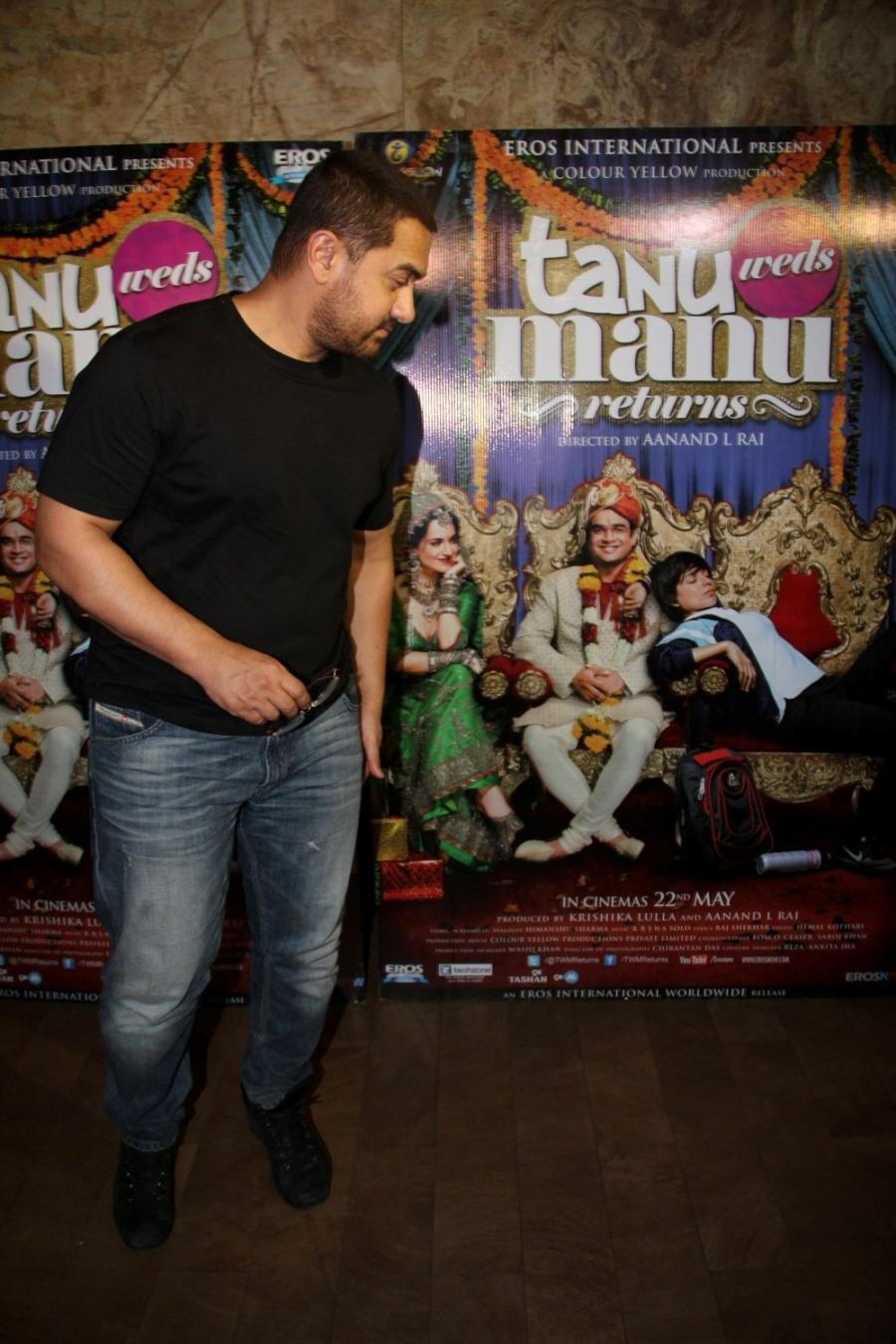 Aamir Khan Special Screening Of Film Tanu Weds Manu Returns-10