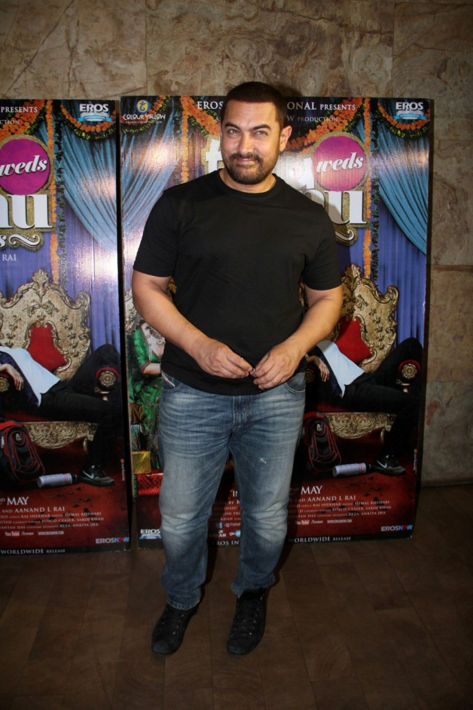 Aamir Khan Special Screening Of Film Tanu Weds Manu Returns-11
