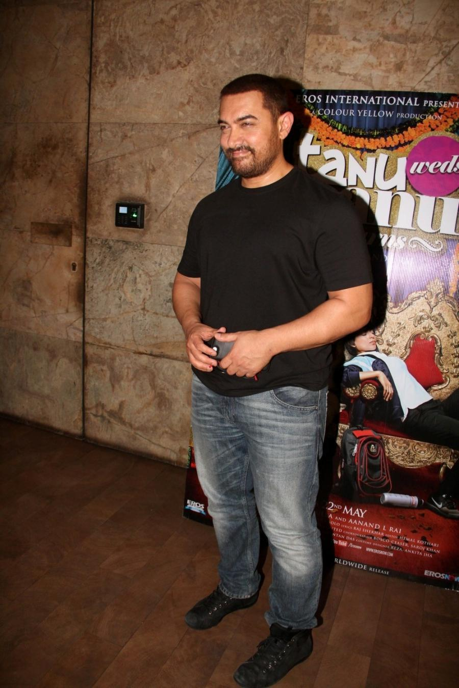 Aamir Khan Special Screening Of Film Tanu Weds Manu Returns-12