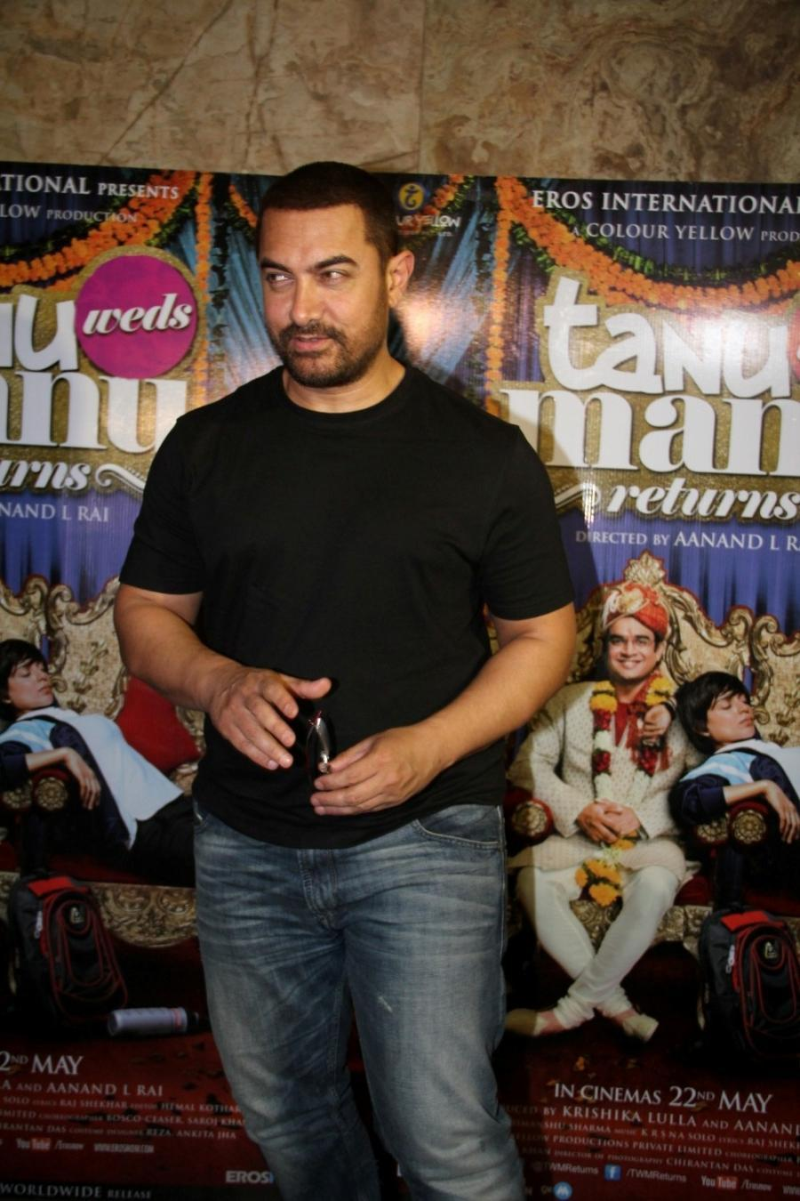 Aamir Khan Special Screening Of Film Tanu Weds Manu Returns-13