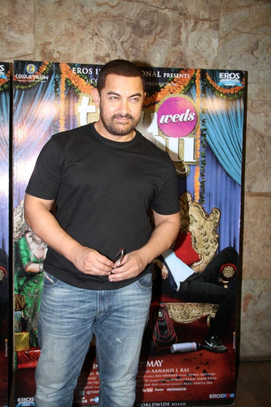 Aamir Khan Special Screening Of Film Tanu Weds Manu Returns-17