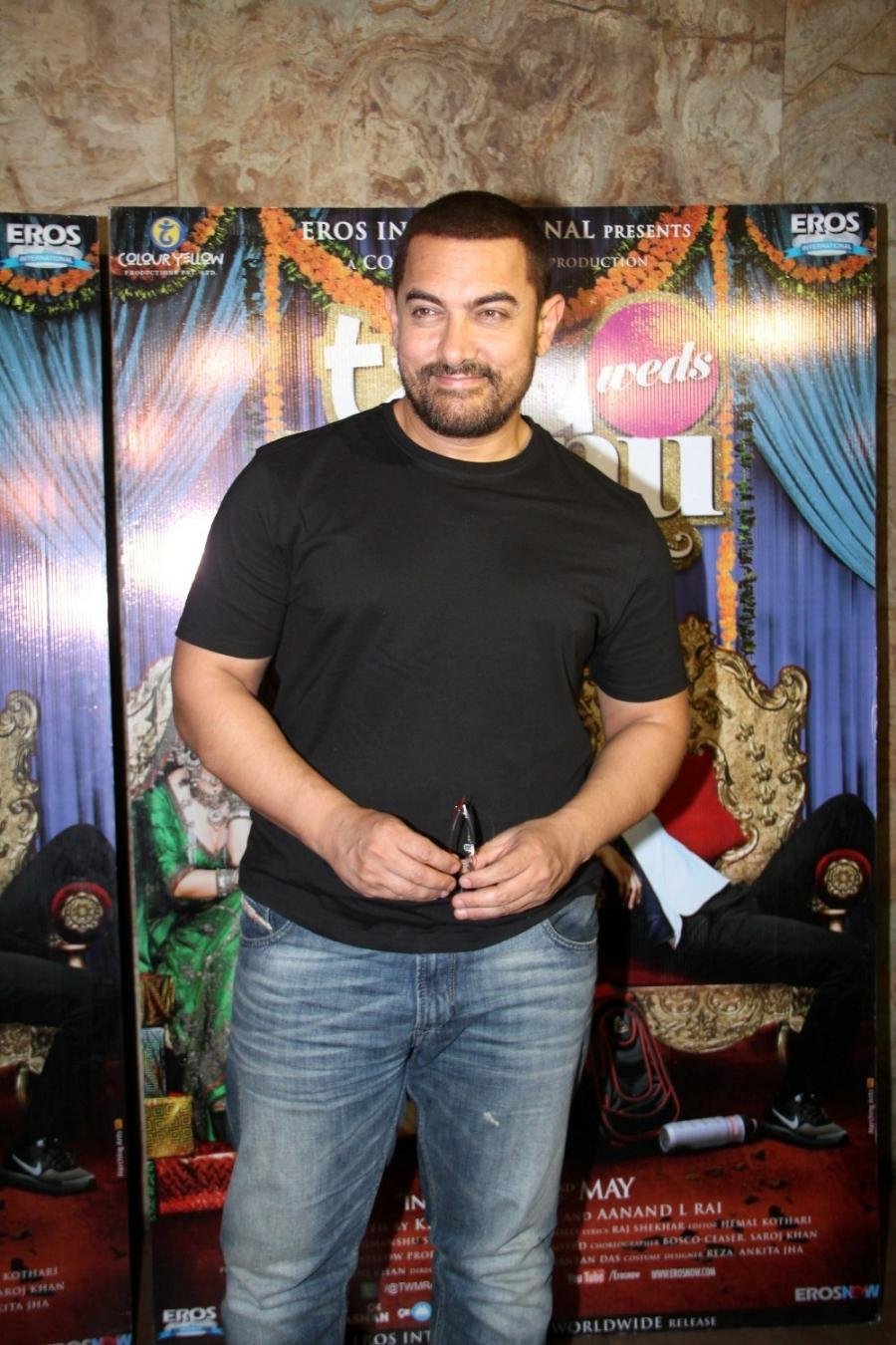 Aamir Khan Special Screening Of Film Tanu Weds Manu Returns-18
