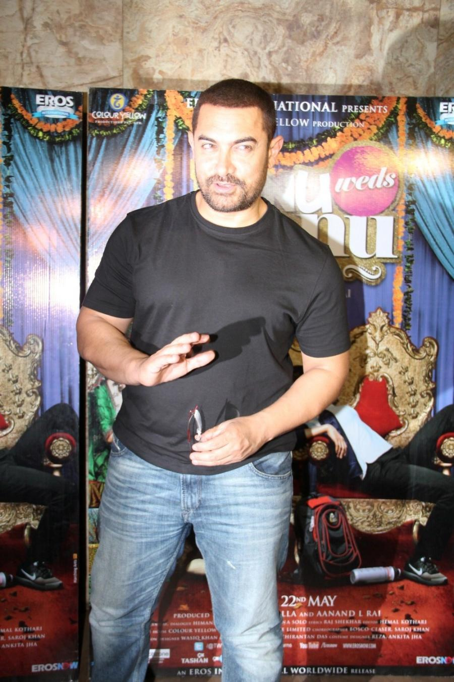 Aamir Khan Special Screening Of Film Tanu Weds Manu Returns-19