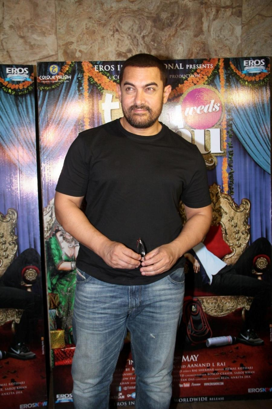 Aamir Khan Special Screening Of Film Tanu Weds Manu Returns-20