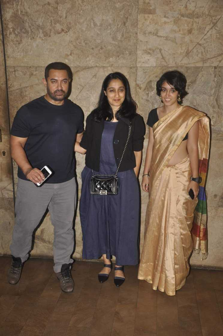 Aamir Special Screening of film Bajrangi Bhaijaan for Eid in Mumbai