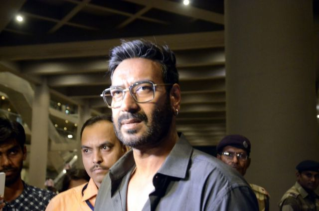 Actor Ajay Devag spotted at the airport