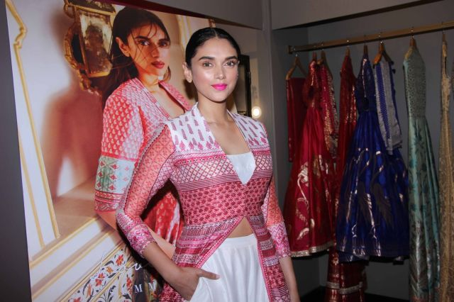 Aditi Rao Hydari Launch of Fashion Designer Anita Dongres Latest Campaign
