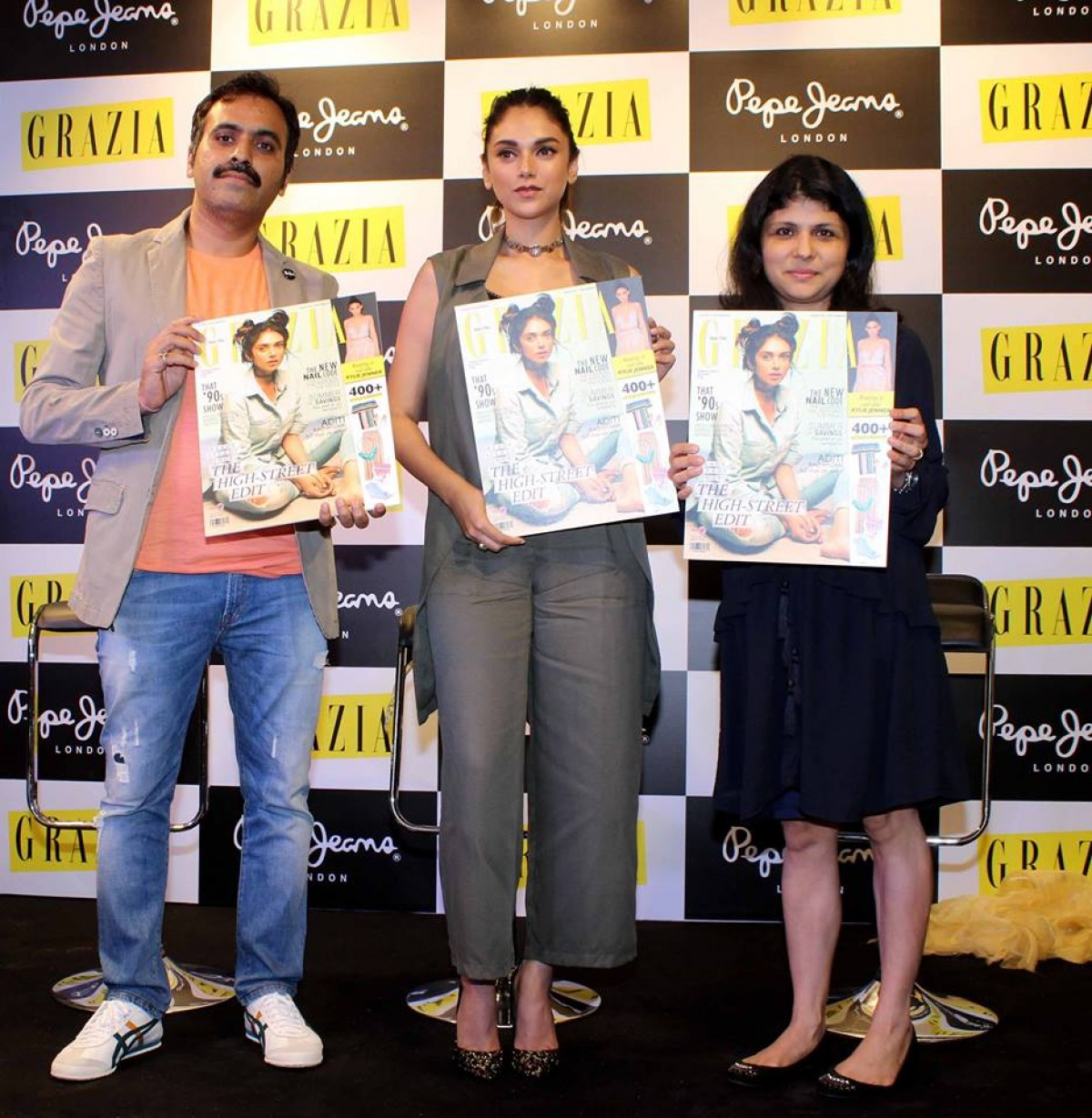 Aditi Rao Hydari Launches Grazia Magazines June 2016 Cover