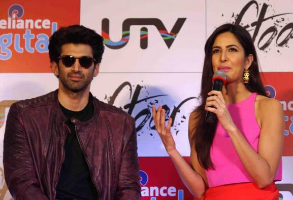 Aditya & Katrina at The Promotion of film Fitoor