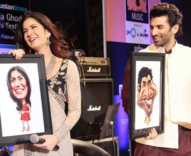 Aditya & Katrina Promotion of Fitoor Movie at The Kala Ghoda Arts Festival Finale