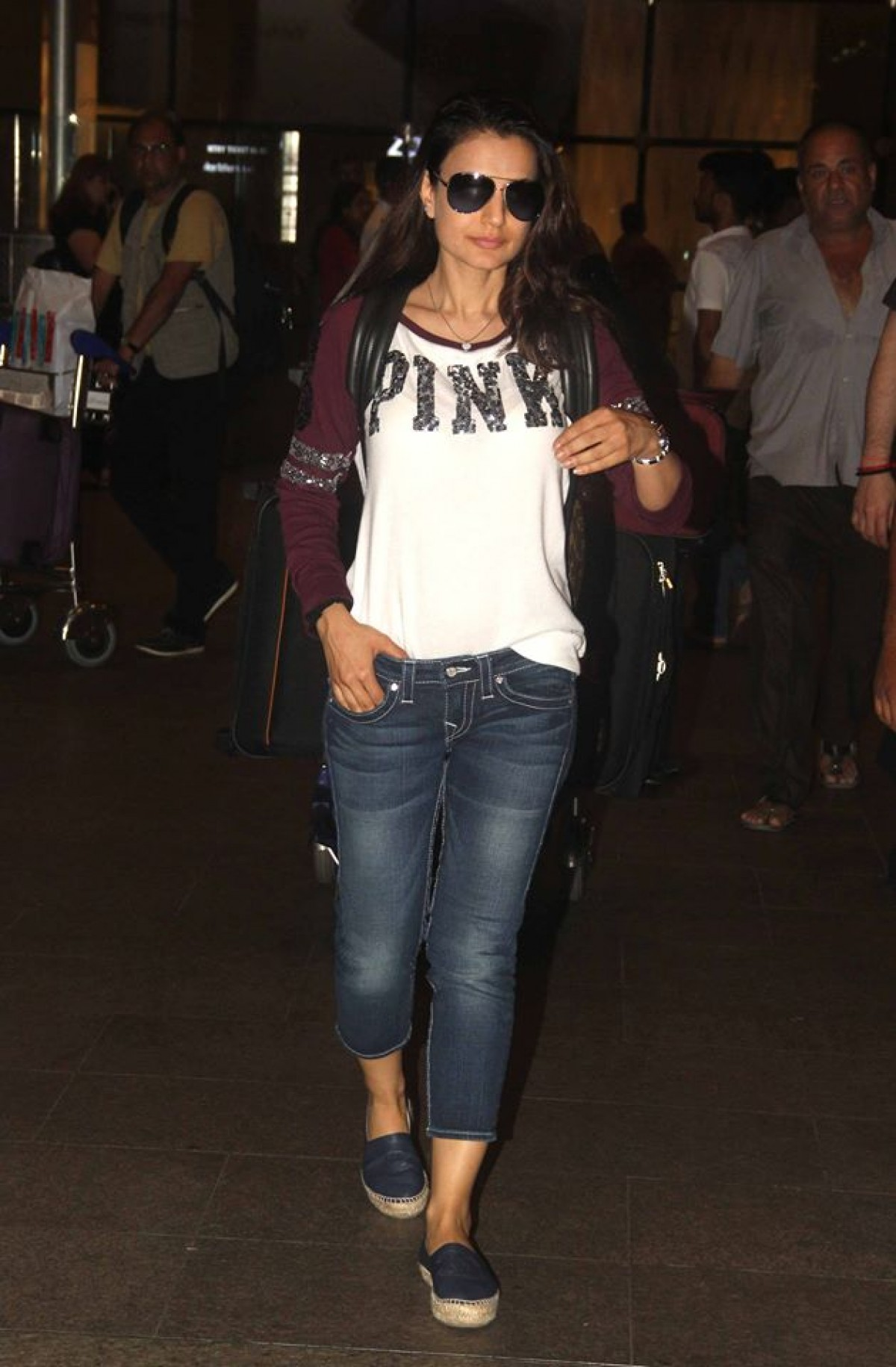 Airport Style! Ameesha Patel Return from Bangkok