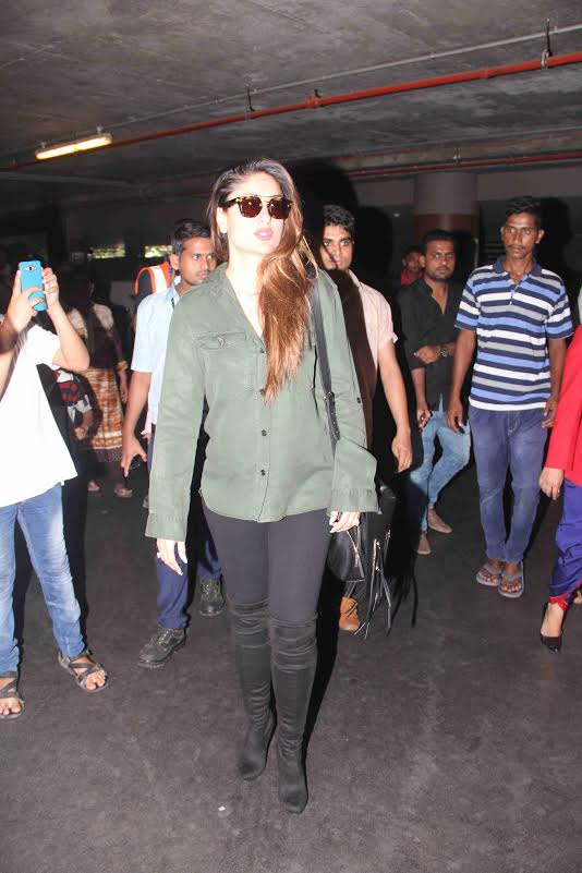 Airport Style: Kareena Khan and Saif Ali Khan Return from London