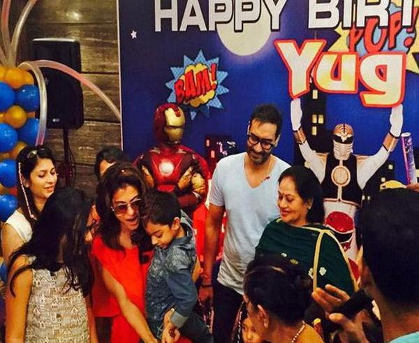 Ajay And Kajol Celebrate YugS Birthday