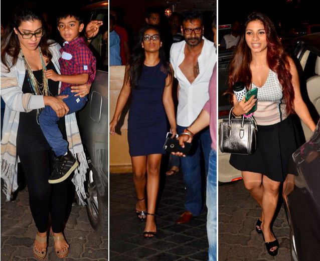 Ajay Devgan And Kajol Enjoyed The Dinner with kids nysa and yug