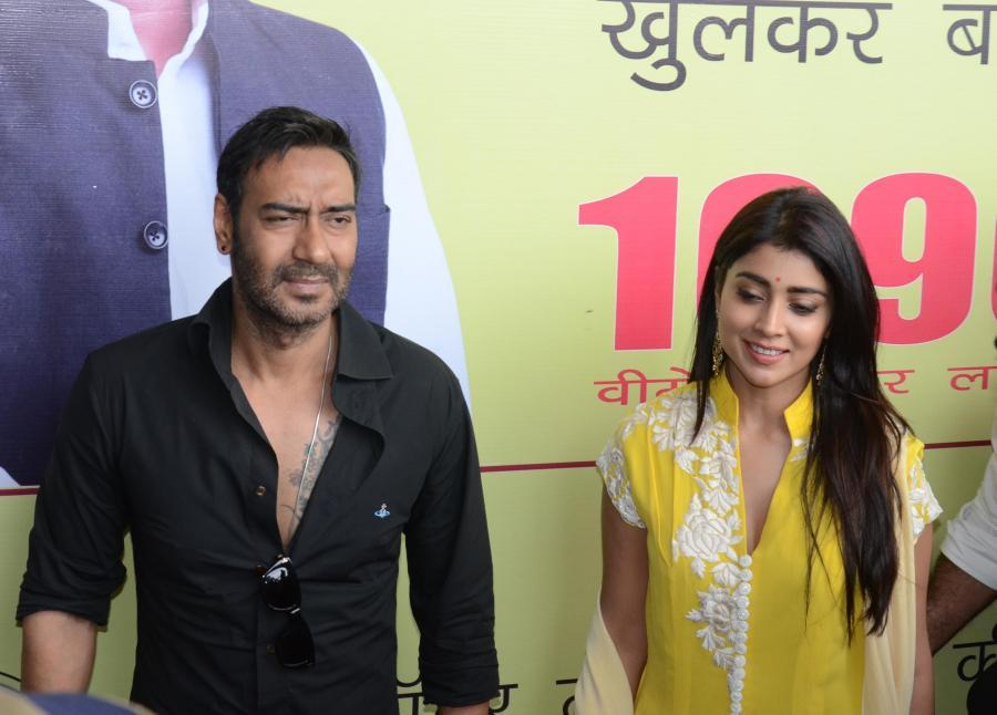 Ajay Devgan And Shriya Saran in Lucknow
