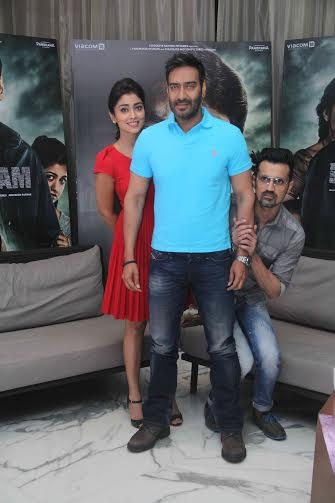 Ajay Devgn & Shriya Saran Drishyam Movie Promotions in Mumbai