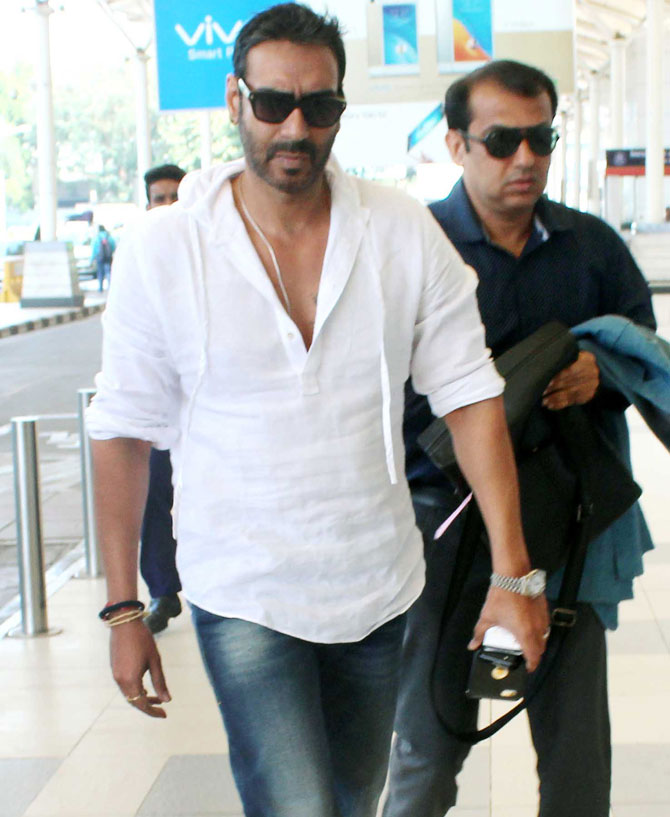 Ajay & Sachin Spotted at Mumbai Airport
