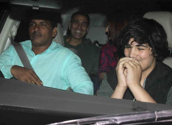 Akshay Kumar with Family Spotted at PVR in Mumbai