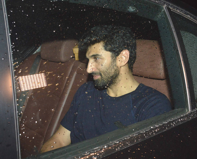 Alia Bhatt and Aditya Roy Kapur spotted outside Aarti Shetty's house