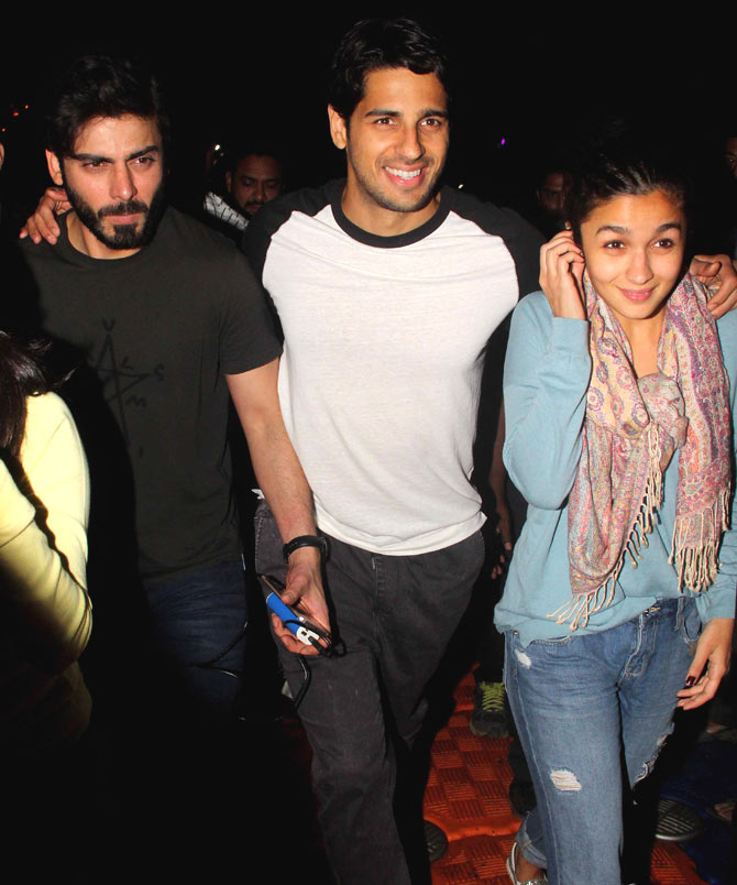 Alia Bhatt, Fawad Khan & Siddharth Malhotra Spotted at Versova in Mumbai
