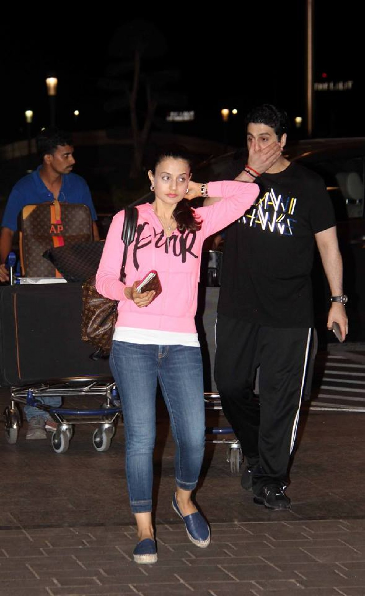 Ameesha Patel and Malaika Arora Khan Spotted at Airport