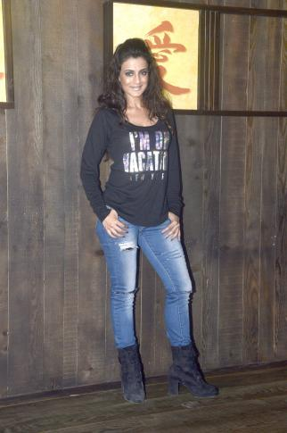 Ameesha Patel Latest Photos in Black T-Shirt
