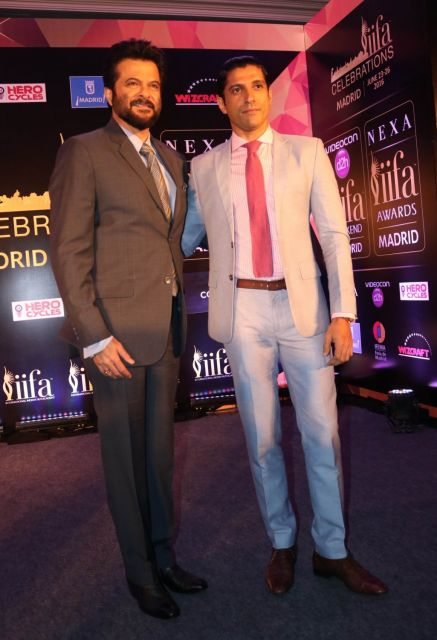 Anil Kapoor and Farhan Akhtar at IIFA Press Conference in Delhi