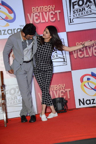 Anushka & Ranbir at Bombay Velvet Game Launch Event