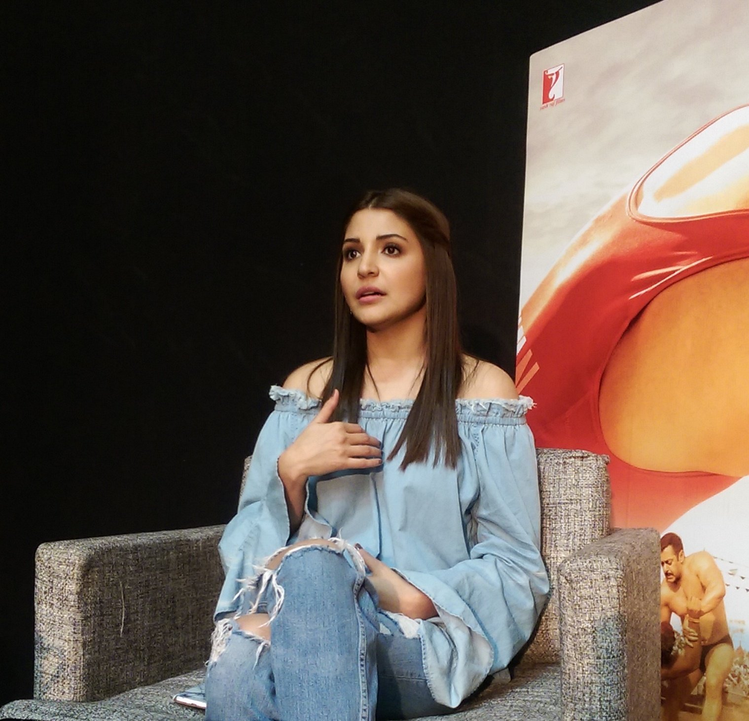 Anushka Sharma at Sultan Movie Promotion Event