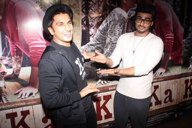 Arjun Kapoor and Ranveer Singh Special Screening of film Ki & Ka