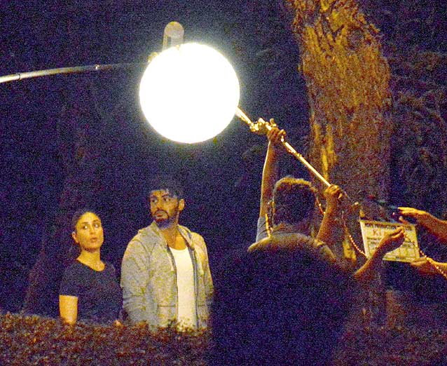 Arjun & Kareena Shoot for Ki and Ka at Lokhandwala