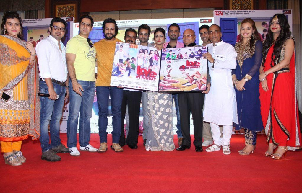 Actors and Gusets during the audio launch of film Love Ke Funday