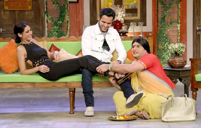 Azhar: Emraan Hashmi and Nargis Fakhri on the sets of Comedy Nights Live