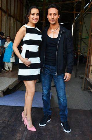 Baaghi : Shraddha Kapoor And Tiger Shroff on the sets of Indias Got Talent