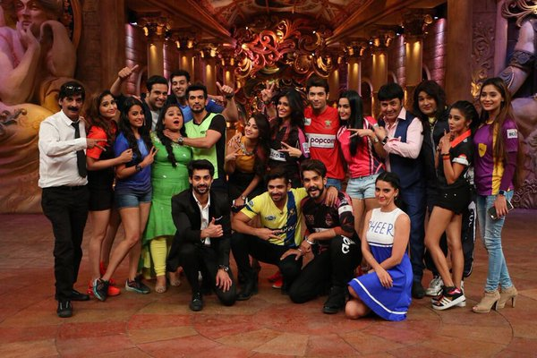 BCL Team on the sets of Comedy Nights Bachao