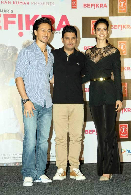 Tiger Shroff, Bhushan Kumar, and Disha Patani