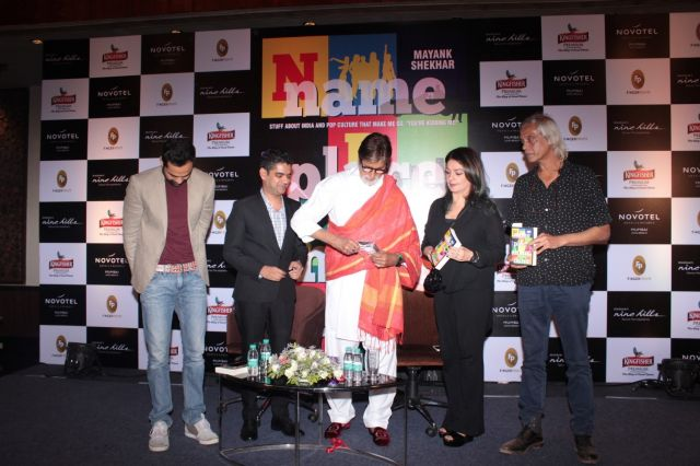 Big B During The Book Launch Name Palce Animal Thing written by Mayank Shekhar in Mumbai