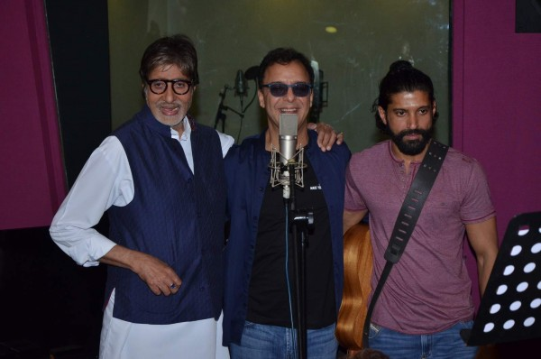 Big B & Farhan Akhtar Record Duet Song for Wazir Movie