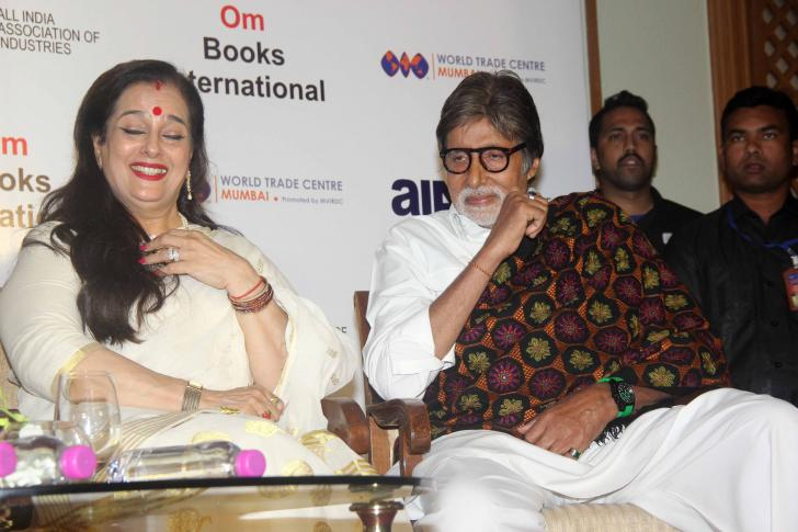 Big B Launches Shatrughan Sinhas Biography Anything But Khamosh