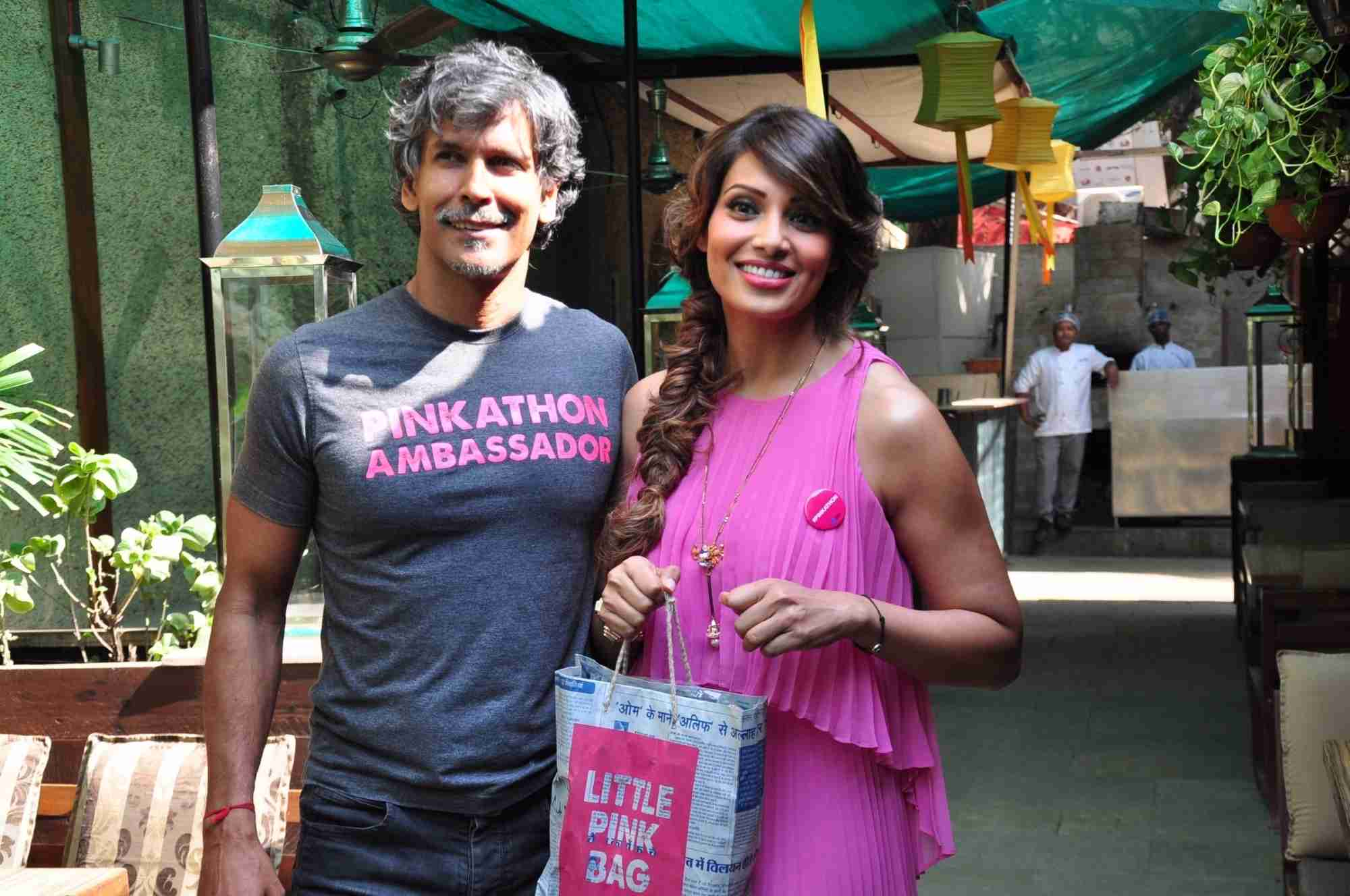 Bipasha Basu & Milind Soman at Announce The Fourth Edition of Pinkathon