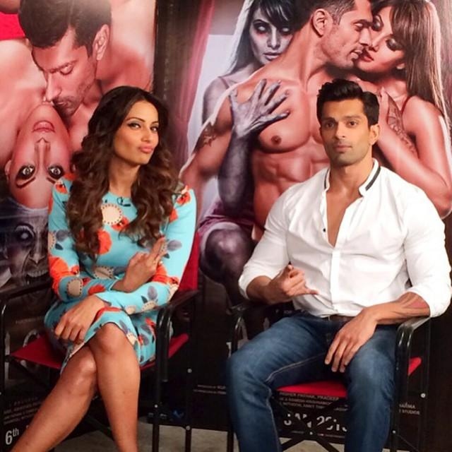 Bipasha & Karan Promoted Alone at Mehboob Studio in Mumbai