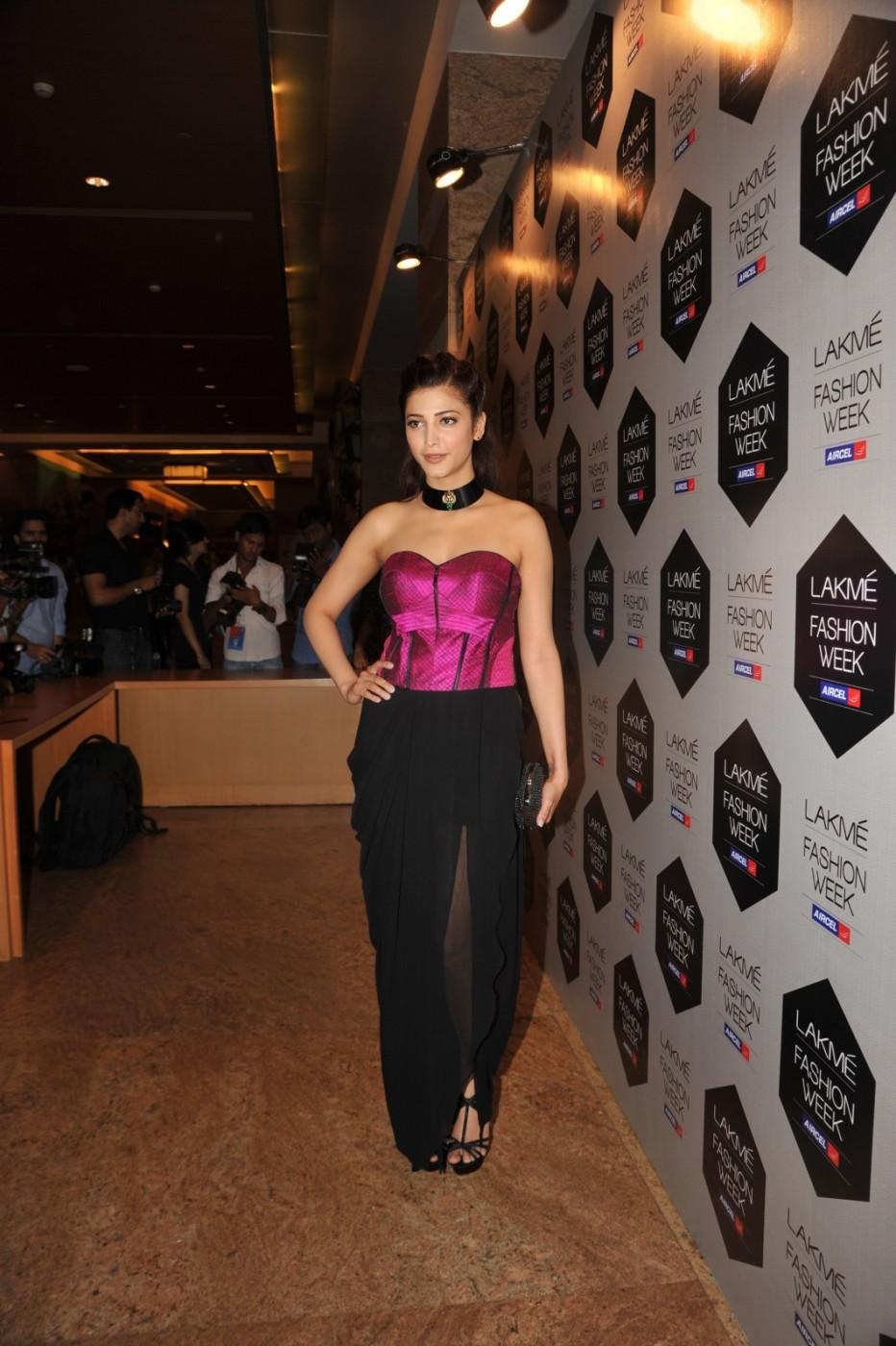 Shruti Haasan In Pink Top - Lakme Fashion Week 2012 Day 5 Photo
