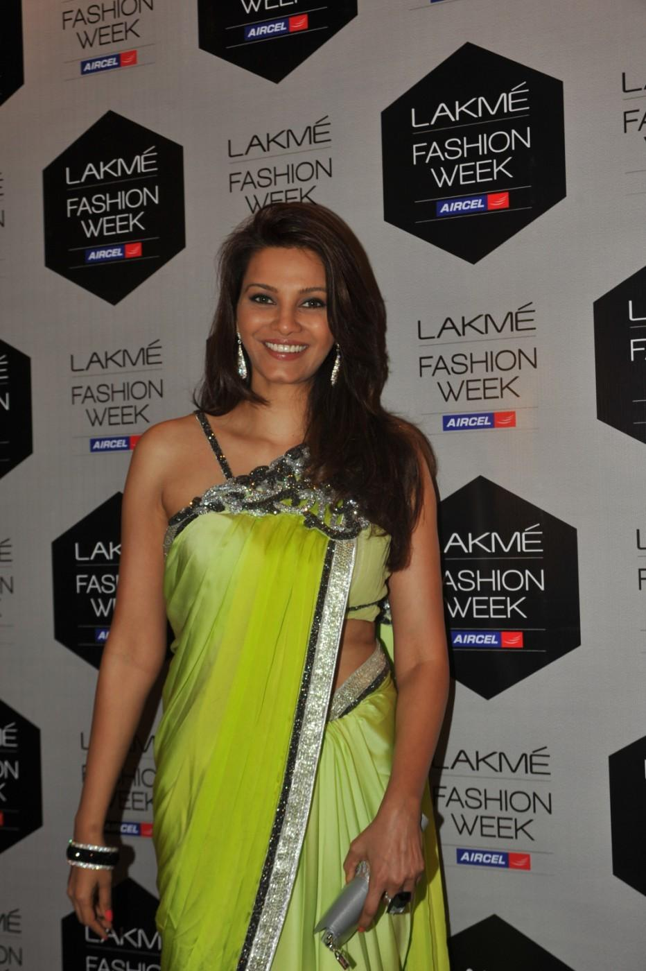 Lakme Fashion Week 2012 Day 5 Photo - Diana Hayden In Saree
