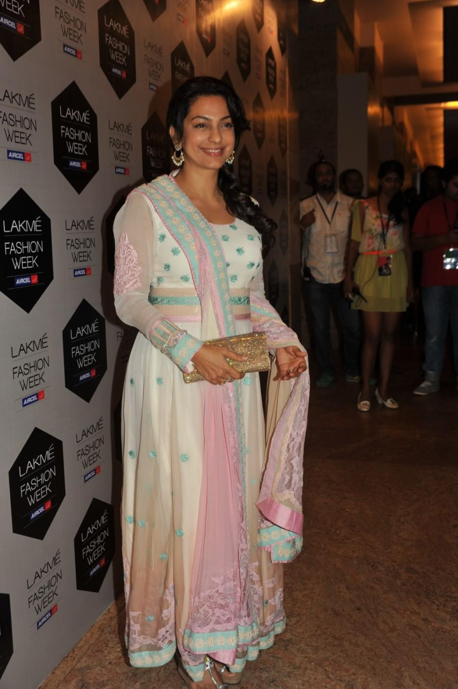 Juhi Chawla Smile Photo - Lakme Fashion Week 2012 Day 5