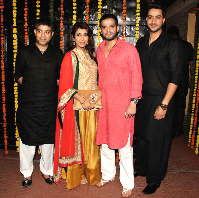 Bollywood Celebs at Ekta Kapoors Diwali Bash 2015