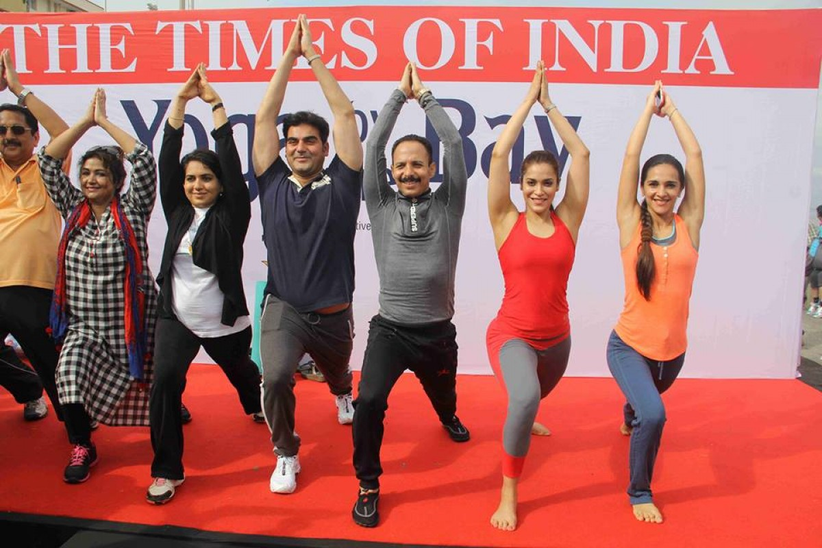 Celebrated International Yoga Day 2016 in Mumbai